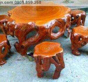 bàn ghế đá giả gỗ đẹp tp Hồ Chí Minh
