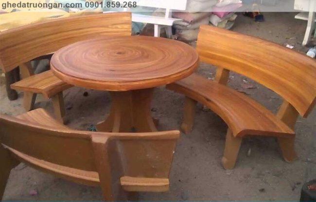 bàn ghế đá mài giả gỗ