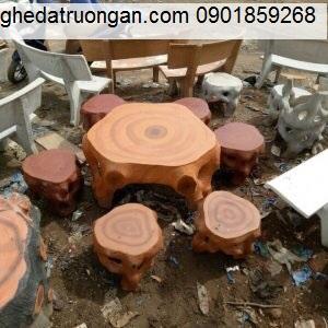 bàn ghế đá giả gỗ tp Hồ Chí Minh