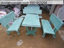 Bộ bàn ghế đá trường học xanh