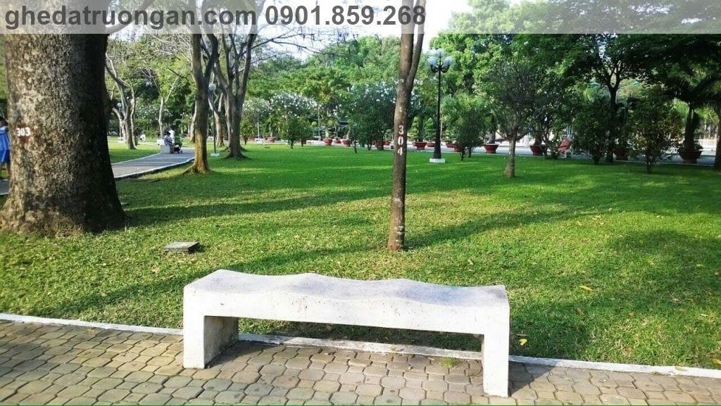ghế đá công viên không tựa