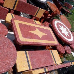 bộ bàn ghế đá granito