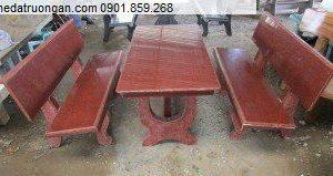 Bộ bàn ghế đá granite ngoài trời