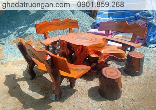 bàn ghế đá giả gỗ đẹp tphcm