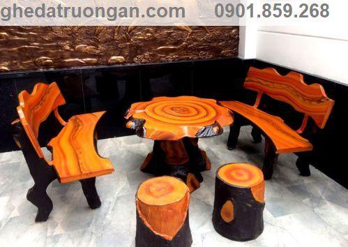 bàn ghế đá giả gỗ giá rẻ nhất tphcm