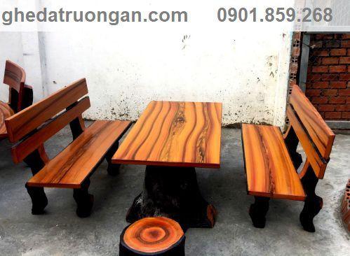 bàn ghế đá gải gỗ giá tham khảo