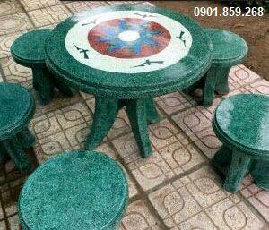 bàn ghế đá kích thước nhỏ