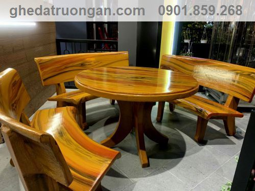 bàn ghế đá sơn bóng đẹp