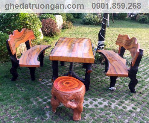 những mẫu bàn đắp xi măng giả gỗ