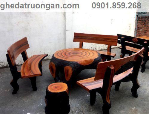 nơi bán bộ bàn ghế đá giả gỗ tphcm